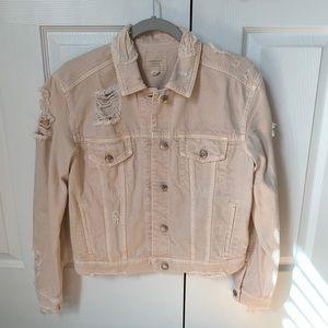 American Eagle distressed jean jacket